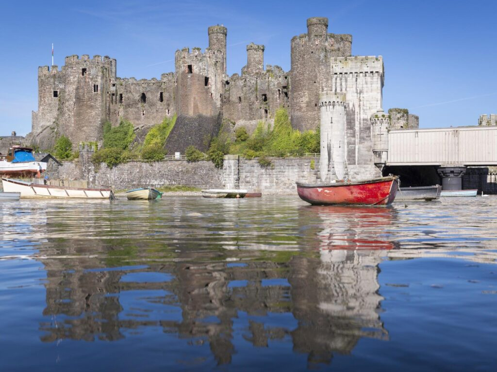Conwy Castle from the harbour